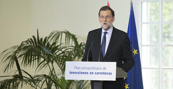 Mariano Rajoy presentando el plan de inversiones (Gtresonline)